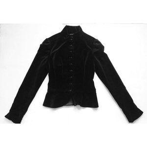 Ralph Lauren Black velvet jacket blazer military